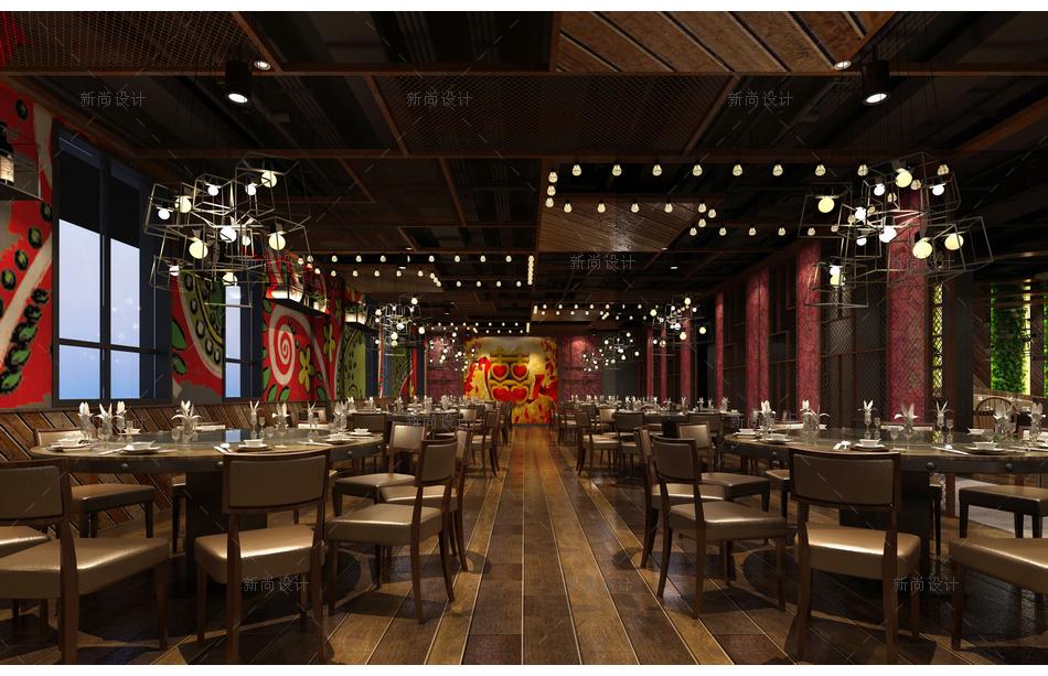 食语时尚餐厅设计效果图004