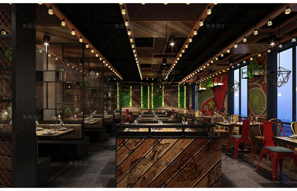 食语时尚餐厅设计效果图005