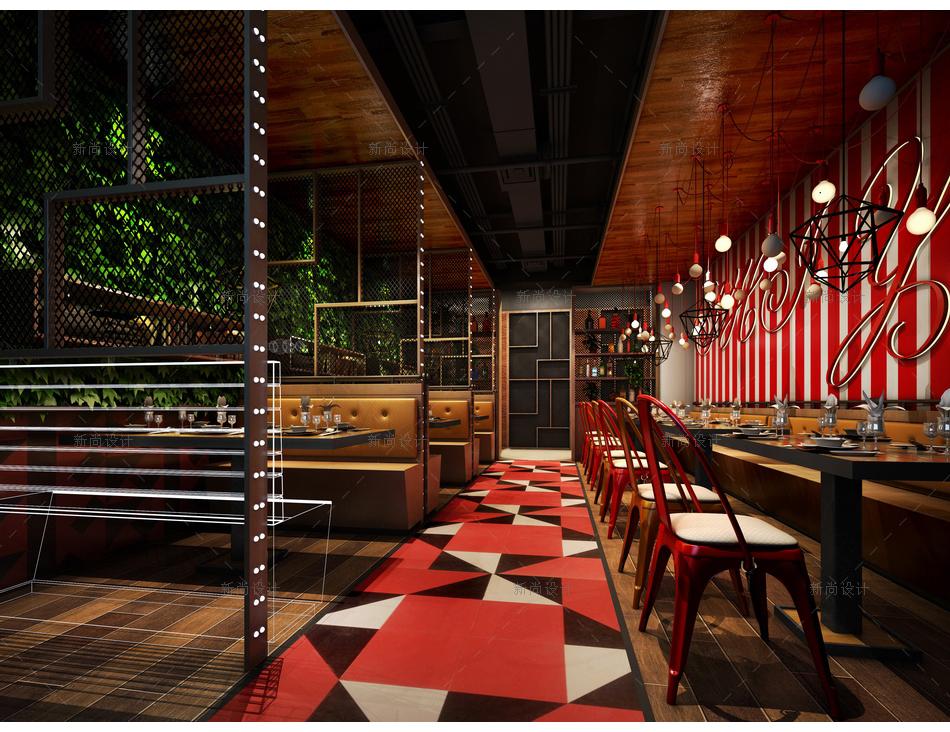 食语时尚餐厅设计效果图006
