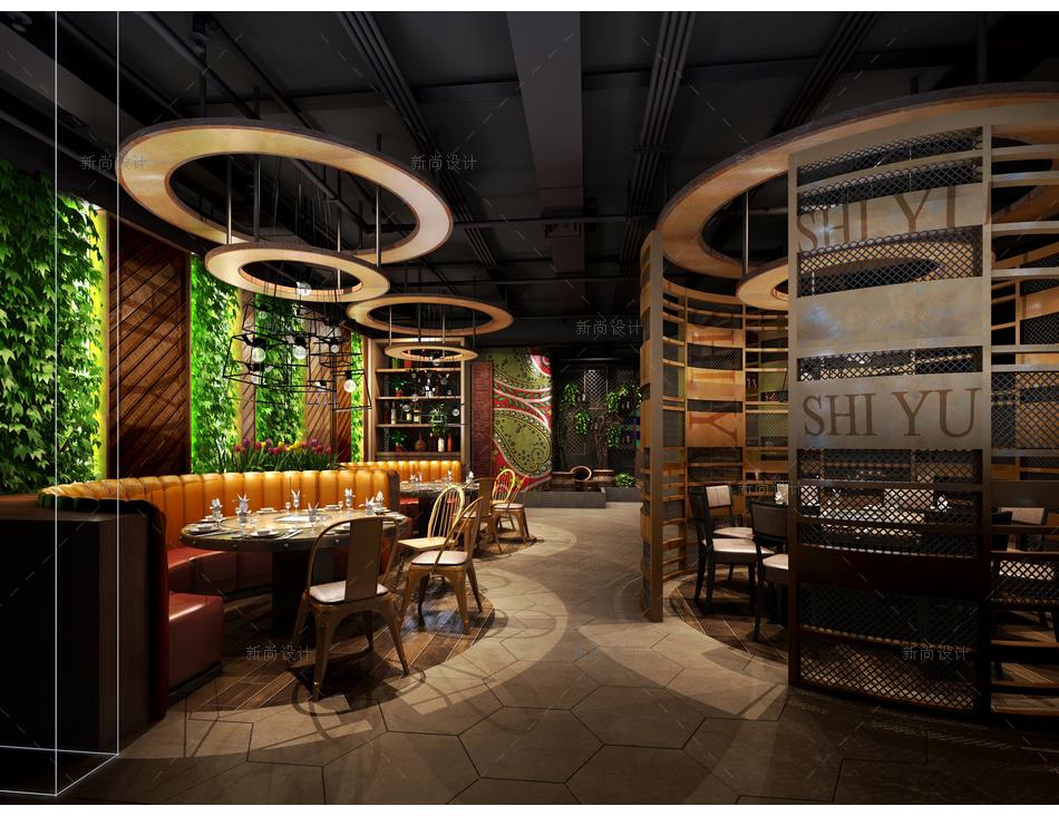 食语时尚餐厅设计效果图008